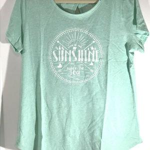 St. John's Bay Women's Graphic T-shirt Top Size XL